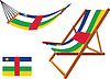 Zentralafrikanische Republik Hängematte und Liegestuhl-Set