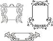 观赏花卉框架装饰品 | 向量插图