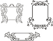 Kwiatowe dekoracje ozdobne ramki | Stock Vector Graphics