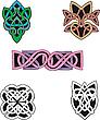 Dingbats Knot i wzory dekoracyjne | Stock Vector Graphics