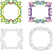 Kwadratowe ramki dekoracji | Stock Vector Graphics