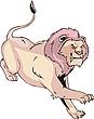 Agresywny lion działa | Stock Vector Graphics