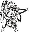 Szczęśliwa młoda dziewczyna | Stock Vector Graphics