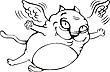 Fliegende Katze Cartoon | Stock Vektrografik