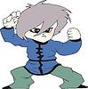 Boy als Kampfsportler