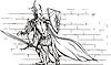 Ritter-Mädchen mit Schwert und Schild