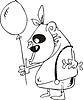 Affe mit Luftballon