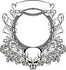 Rahmen mit Totenkopf im Art Nouveau Stil