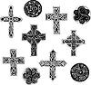ID 3269545 | Keltische Knoten - Kreuze und Spiralen | Stock Vektorgrafik | CLIPARTO