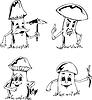Pilz-Karikaturen