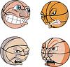 Lustige Basketbälle