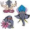 Elefanten von Ganesha