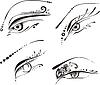 Stilisierte Augen