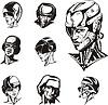 Heads of Cyborg Frauen