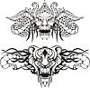 Symmetrische Tier-Tattoos