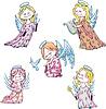 ID 3348638 | Dzieci aniołów | Klipart wektorowy | KLIPARTO