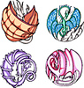 Round Dragon Designs | Stock Vektrografik