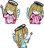 Engelchen Mädchen mit Zauberstab