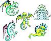 Grüne Baby-Drachen | Stock Vektrografik