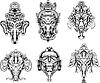 symmetrischen Ganesha-Masken