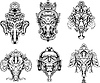 symmetric Ganesha masks