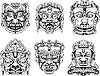 Hindu-Gottheit Masken