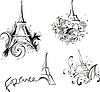 Sketches mit Eiffelturm