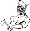 ID 3758628 | American Indian wojownik | Klipart wektorowy | KLIPARTO