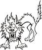 Zerzauste Katze | Stock Vektrografik