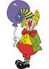 Lustiger Clown mit Luftballon