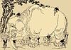 japanische Manga von Hokusai - Riesen-Elefant
