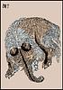 Japanische Manga von Hokusai - Skizze tapir | Stock Vektrografik