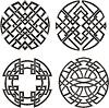 Symmetrische Muster runden Knoten