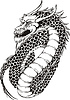 Mächtigen orientalischen Drachen | Stock Vektrografik