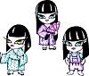 Japanische Anime-Mädchen