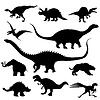 Dinosaurier Silhouetten Sammlung
