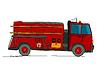 ID 3814316 | Feuerwehrfahrzeug cartoon | Stock Vektorgrafik | CLIPARTO