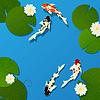 ID 3881436 | Koi ryb i Lotos | Klipart wektorowy | KLIPARTO