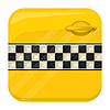 Vector clipart: Taxi door app icon