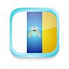 Smartphone-Taste mit Inselflaggenkarte