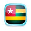 Smartphone-Taste mit Togo Flagge