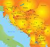 Karte von Balkan-Region