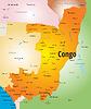 Landkarte von Kongo