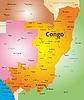 Farbe Karte von Kongo