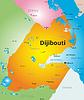 Farbe Karte von Dschibuti