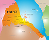 Farbe Karte von Eritrea