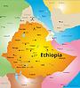 Farbe Karte von Äthiopien