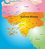 Farbe Karte von Guinea-Bissau