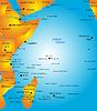 Karte von Ost-Afrika
