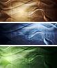 Elegante Grunge Banner Wellen